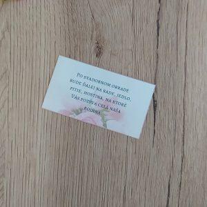 Pozvanie k svadobnému stolu – Ruže v pozadí
