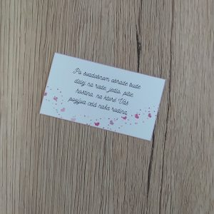 Pozvanie k svadobnému stolu – Srdiečka v obálke