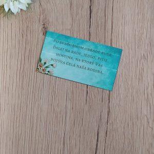 Pozvanie k svadobnému stolu – Kytica kvetov