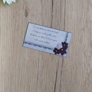 Pozvanie k svadobnému stolu - Srdce a kvet