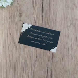 Pozvanie k svadobnému stolu – Biele kvety