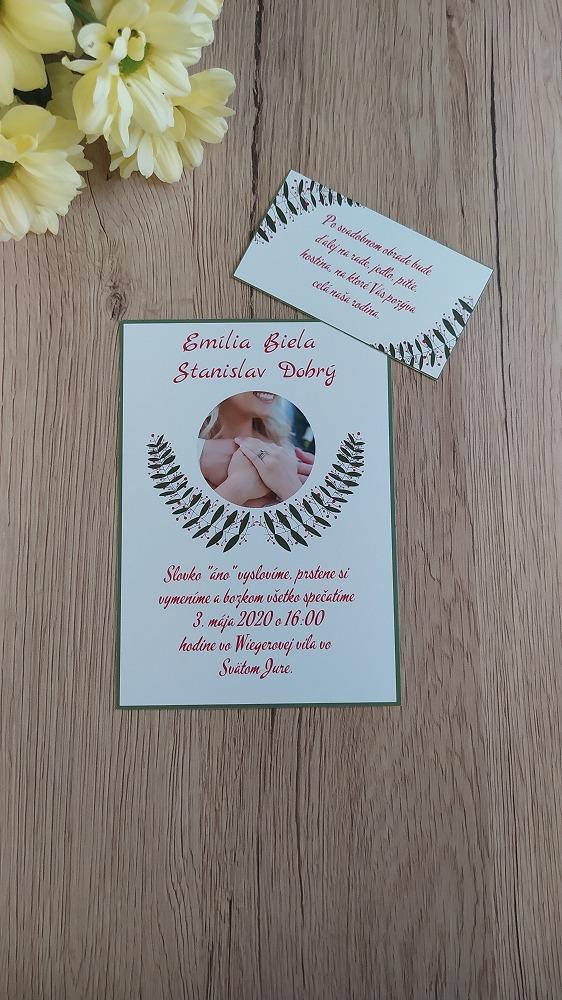 Pozvanie k svadobnému stolu – Fotka a listy