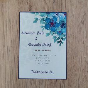 Oznámenie modré kvety