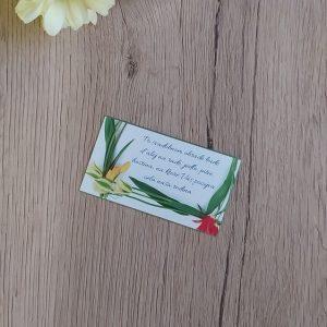 Pozvanie k svadobnému stolu – Tulipány