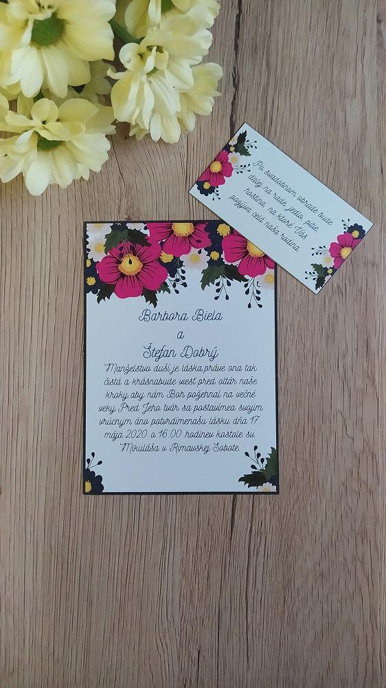 Pozvanie k svadobnému stolu – Cyklámenové kvety